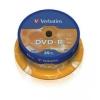 DVD-R 4,7 гБ, 16х, Verbatim на шпинделе