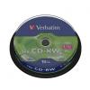 CD-RW 700 Мб  8-12х пзап. 10 шт. на шпинделе Verbatim