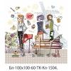 Блокнот 100*100 на термо склейке 60л Mandarin