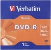 Диск DVD-R 4,7 Гб запис. 16х. Verbatim DataLife