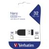 "Карта памяти USB Flash 2.0 32 Gb ""NANO"" + адаптер микро-USB"