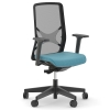 """Кресло для персонала Narbutas """"WIND"""", корпус из черного пластика, с регулировкой сиденья в глубину"""