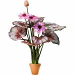 Растение искусственное Тропическое ЛОТОС