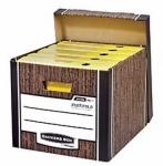 Архивный короб с крышкой Bankers Box™ Woodgrain