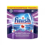 Средство для мытья посуды в посудомоечной машине Finish Quantum Max