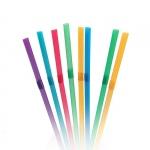Трубочки для коктейля 240*8мм 250 шт/упак, цветные с гофрой