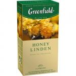 """Чай черны пакетированный """"Greenfield"""" со вкусом меда и липы"""
