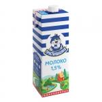 """Молоко питьевое ультрапастеризованное """"Простоквашино"""" с крышкой 950 мл, 1,5%"""