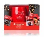 "Набор чай ""Tess"" 4 вида Goldberry, Pleasure, Orange, Earl Grey + кружка в подарок"