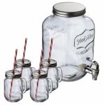 "Набор посуды ""Acapulco"": диспенсер и 4 стакана"