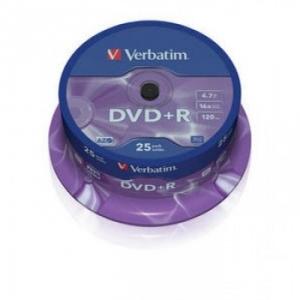 DVD+R 4,7 гБ, 16х, Verbatim на шпинделе
