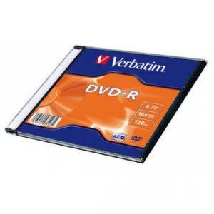 Диск DVD-R 4,7 Гб 16х Slim Single Verbatim