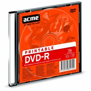 Диск DVD+R 4,7 Гб Slim Printable Acme