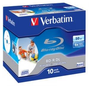 диск BD-R DL 50 Гб запис. 6х. 10 шт. Jewel Case Verbatim