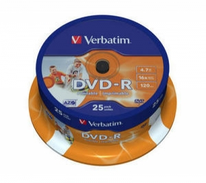 Диск DVD-R Wide Inkjet Printable