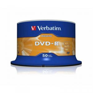 Диск DVD-R 4,7 Гб запис. 16х. 50 шт. на шпинд. Verbatim DataLife