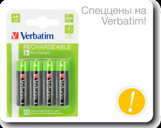 Спеццены на батарейки Verbatim
